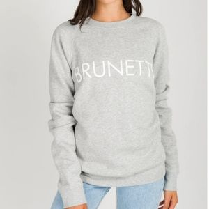 Brunette The Label Crewneck Pebble Grey Sweatshirt